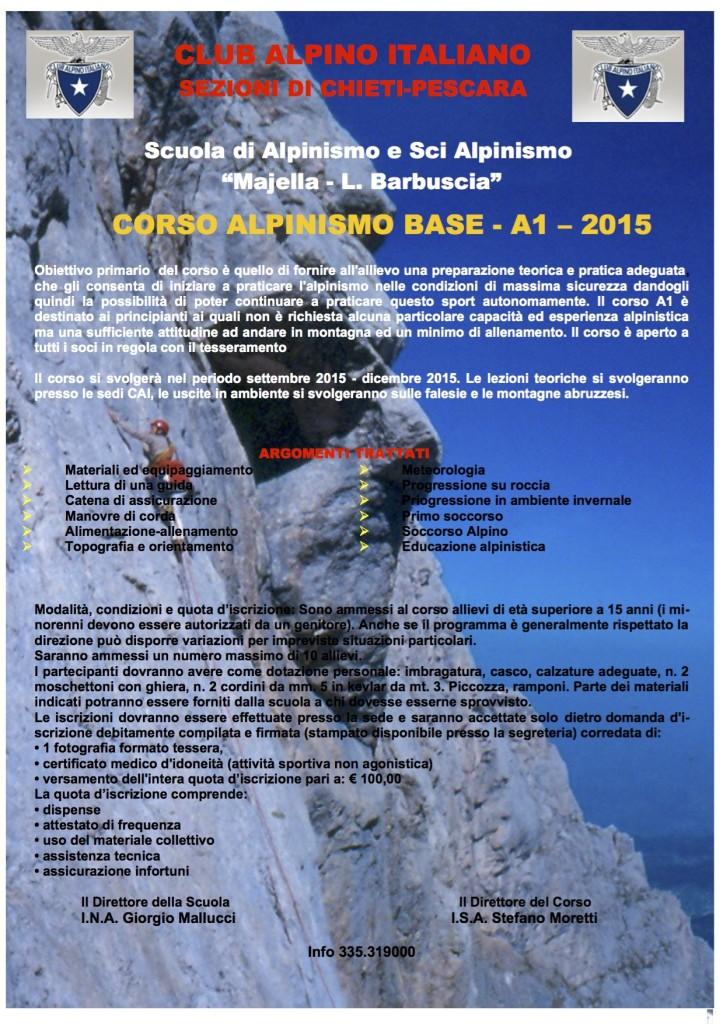 locandina corso A1-2015
